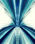 Abstract high-speed technology concept image from the tokyo automated transit Stock Photos