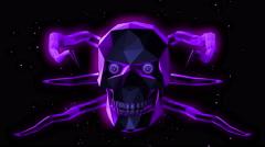 Halloween Devil Skull 4K Vj Loop 01 - stock footage