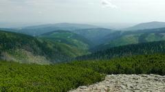 Karkonosze, Krkonose mountains. View from Sniezka mountain Stock Footage