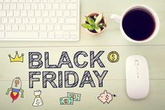 Black Friday message with workstation Kuvituskuvat