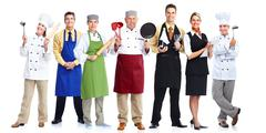 Group of chefs. - stock photo