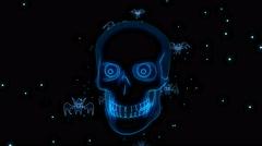 Halloween Skull 4K Vj Loop 12 - stock footage