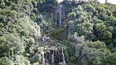 Cascata Delle Marmore waterfalls in Terni, Umbria, Italy Stock Footage