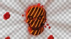 Haloween Rose Red Skull 4K Vj Loop 27 - stock footage