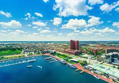 Aerial view of the Inner Harbor in Baltimore, Maryland Kuvituskuvat