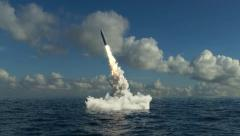 Underwater Missile Launch Stock Footage