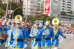 Stock Photo of TENERIFE, FEBRUARY 17: Carnival groups and costumed characters, parade through