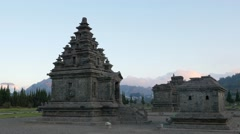 TIMELAPSE Clouds over Arjuna complex,Dieng,Java,Indonesia Stock Footage