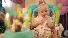 Sad Child's Birthday - stock footage