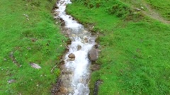 Mountain River, in the alps, austria rauris Stock Footage
