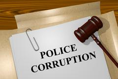 Police Corruption concept Stock Illustration
