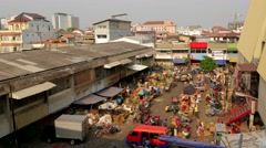 TIMELAPSE Busy activity at vegetable morning market,Semarang,Java,Indonesia Stock Footage