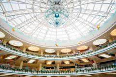 Stolitsa is a major shopping center in Minsk, Belarus Stock Photos