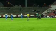 Beginning of football match or second half,referee gives sign,soccer game starts Arkistovideo