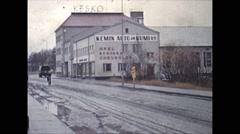 Vintage 16mm film, 1959, Finland, Helsinki city traffic Stock Footage
