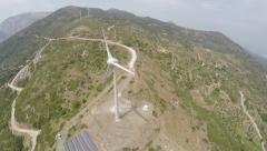 Wind Turbine Aerial Drone Footage 3 Stock Footage