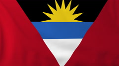 Flag of Antigua Barbuda Stock Footage