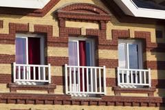 Architecture of Etretat, Cote d'Albatre, Pays de Caux, Seine-Maritime departm Stock Photos