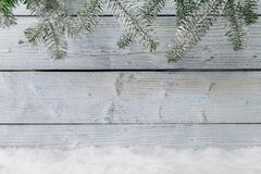 Winter snowy background - stock photo