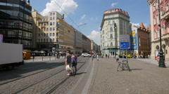 Hotel City Centre in Republic square, Prague Stock Footage