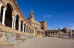 Spain square built for the Ibero-American Exposition of 1929, Sevilla, Andalu Stock Photos