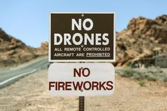 No Drones Sign - stock photo