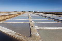 Salt Pans, Tavira, Algarve, Portugal - stock photo