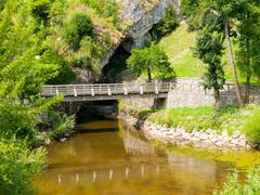 Pivka River swallow hole - stock photo