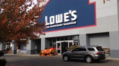 Lowe's Entrance Stock Footage