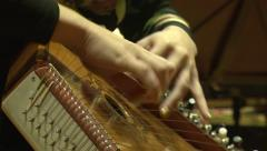 Woman playing the harp. Arkistovideo