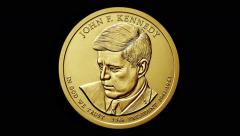 Presidential golden coin - 2015 Stock Footage