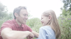 4K Happy affectionate family spending time together outdoors - stock footage