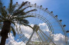 Wheel with sunburst Stock Photos