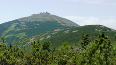 Snezka or Sniezka mountain. Highest point in the Czech Republic Stock Footage