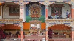 SLOW MOTION Raining at festival,Lamayuru,Ladakh,India Stock Footage