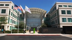 Apple headquaters cupertino Stock Footage