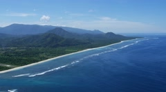 Island coast from above Stock Footage