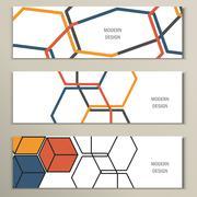 Stock Illustration of Beautiful vector pattern of the hexagonal net