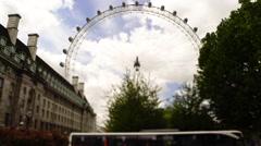 Time Lapse Tilt Shift of The London Eye Panoramic Wheel Stock Footage