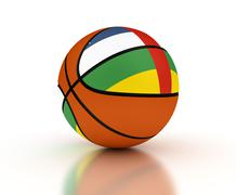 Central African Basketball Team Stock Illustration