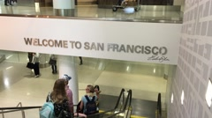 Welcome to San Francisco Airport Stock Footage