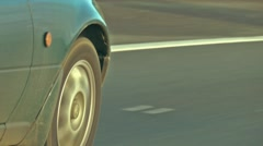 Driving shot - Car passing undertaking on motorway Stock Footage