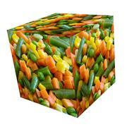 Vegetables mix cube. Stock Illustration