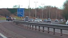 Driving shot - rush hour congested motorway - M25, London, England Stock Footage