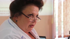 ODESSA, UKRAINE - The 12 th of May 2015. Interns in studying process (close up) Stock Footage