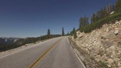Yosemite Cliffside Forest Overlook Driving POV HD Stock Footage