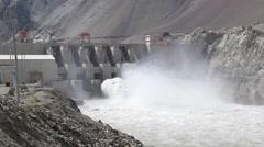 SLOW MOTION Nimoo Bazgo Hydroelectric Plant,Alchi,Ladakh,India Stock Footage