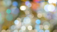 Lights Bokeh Flickering Abstract Background Stock Footage