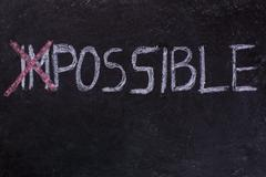 Impossible is nothing - stock photo