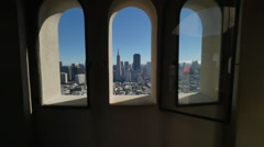 View of San Francisco from Coit Tower   Stock Footage